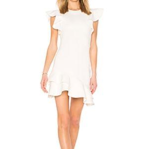 Amanda Uprichard Ivory White Ruffle Dress